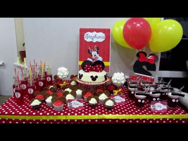 Как сделать первый праздник малышу День рождение в стиле Минни Маус Minnie Mouse Birthda
