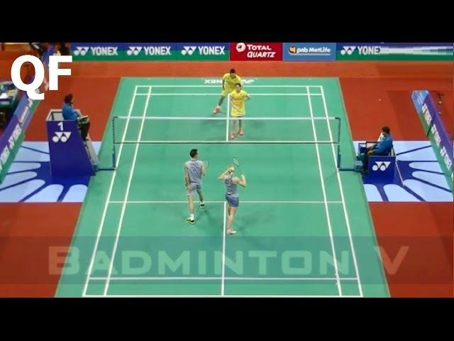Badminton 2017 India Open QF Chris ADCOCK Gabrielle ADCOCK vs Bodin ISARA Savitree AMITRAPAI