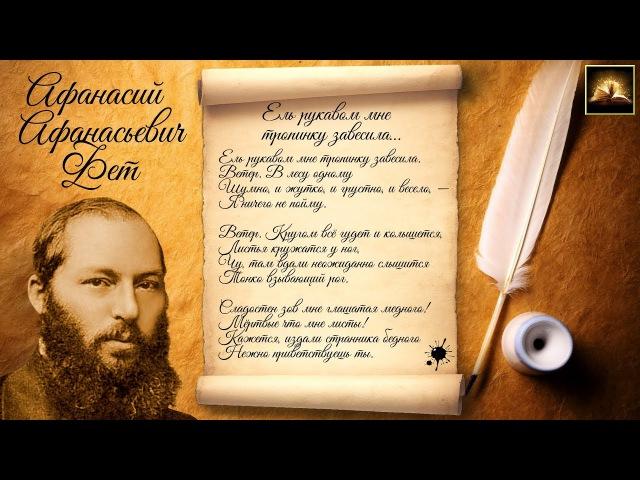 Стихотворение А А Фет Ель рукавом мне тропинку завесила Стихи Русских Поэтов Аудио Стихи