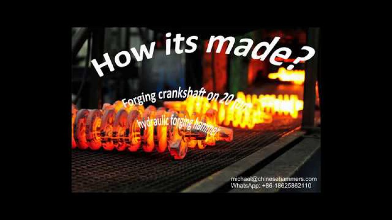 How its made forge crankshaft on hydraulic close die forging hammer