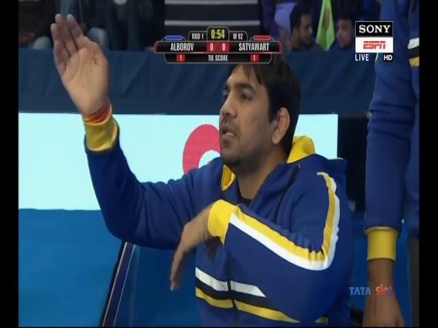 PWL 3 Day 1: Mumbai Maharathi's Satyawart Kadyan vs Delhi Sultans' Alborov Aslan in 92 kg bout