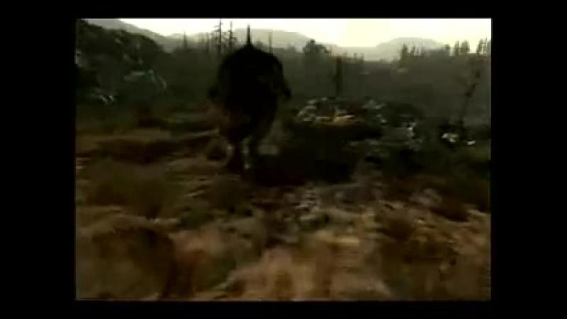 Fallout 3. Коготь смерти VS Супермутант-Бегемот