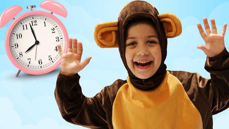 Пять маленьких Обезьянок Five Little Monkeys Jumping On The Bed Детские песенки на английском