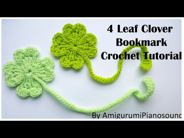 Shamrock Four Leaf Clover Crochet Tutorial with narration
