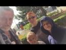 Никита Джигурда с Мариной Анисиной и детьми Мик Анжелям Кристом и Эвой Владой в Бордо 2017