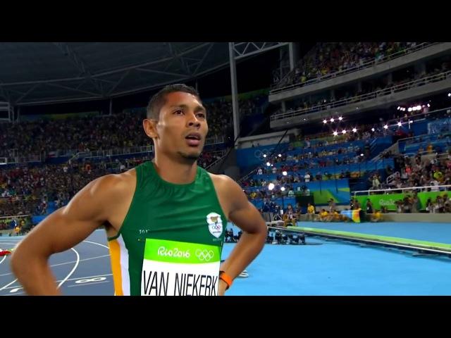 Van Niekerk smashes world record to win 2016 Olympics' 400m event