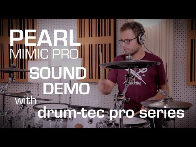 Pearl Mimic Pro sound demo with drum-tec electronic drums Roland e-cymbals