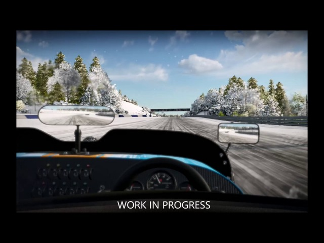 Project CARS 2 Driving in the Snow Cat B729