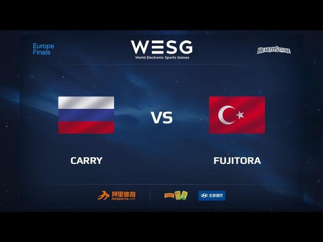 Carry vs Fujitora, WESG 2017 Hearthstone European Qualifier Finals