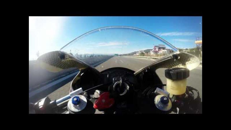 GoPro Hero 4 Honda CBR600RR FULL THROTTLE GREECE Eleusina Korinthos