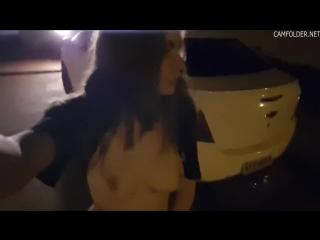 Ночная прогулка с дилдо между ног (brazzers, xxx, порно, анал, anal, porno, сись