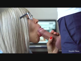Sexy secretary makes amazing and sensual blowjob to her boss again!(секс,sex,порно,porno,лучшее,сиськи,pussy,tits,amateur