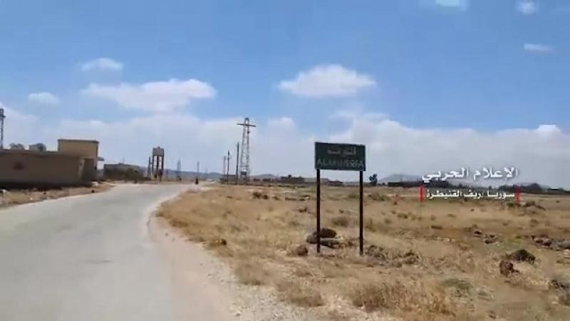 Видеокадры из деревень Наба ас Сахр Мадждулия Аль Мшейрфа и Аль Халаби в провинции эль Кунейтра