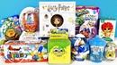 15 Киндер Сюрпризов, Unboxing Kinder Surprise Spongebob Slime, My little pony, БАРБИ, Lost Kitties