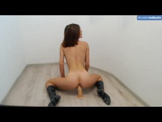 Anibutler - young and flexible gymnast [solo, masturbation, toys, girl, tits, ass, fingering]