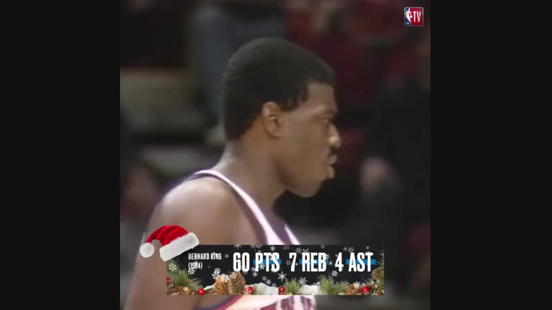 ❄️ 60 PTS   7 REB   4 AST ❄️ Bernard King's crazy performance is forever etched in NBAXmas history! 🏀🎄