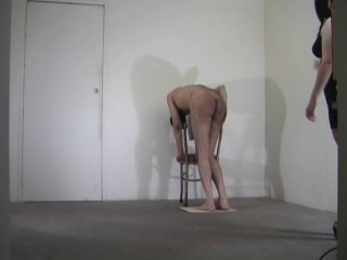 Duckwalk punishment and a very strict caning_subtitled_768kbps