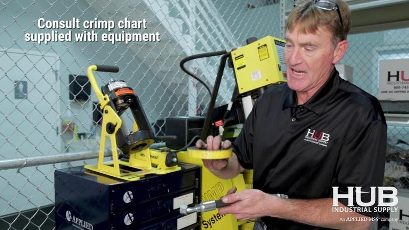 Crimping Hydraulic Hose with Eaton Coll-O-Crimp Portable Crimper
