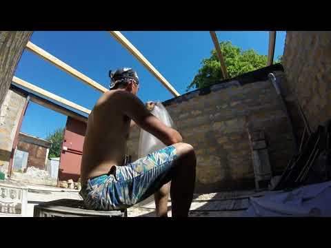 Строительство крыши пошагово день 🔥 4