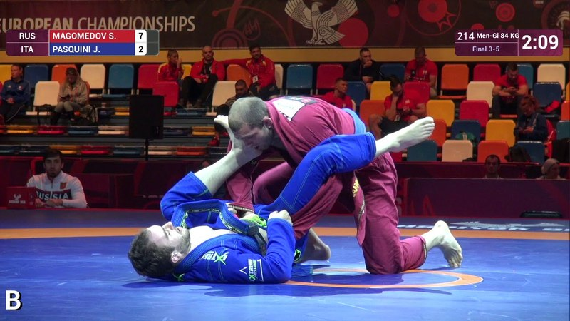 BRONZE Men Gi 84 kg S MAGOMEDOV RUS v J PASQUINI ITA