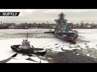 В Санкт-Петербурге готовят к загрузке ядерного топлива самый мощный атомный ледокол «Арктика»