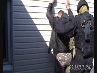 Задержание подозреваемого в вымогательстве
