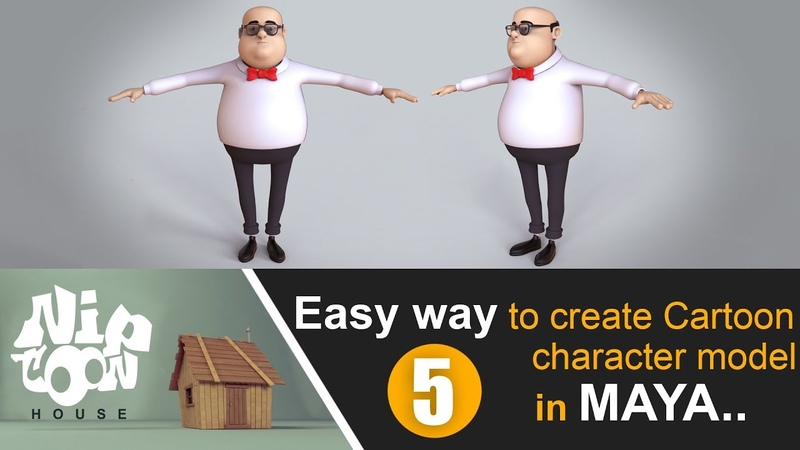 Easy way to create a cartoon character model in maya (part-05)