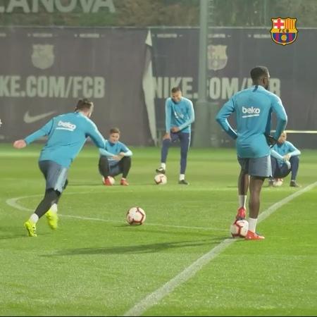 """FC Barcelona on Instagram """"⚡️ WE ARE READY ⚡️ 👊 ¡VAMOOOOOOOOOOS! SOM-HI ElClasico ForçaBarça"""""""