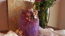 Cómo reciclar y decorar un tarro de cristal TUTORIAL PASO A PASO Altered glass jar