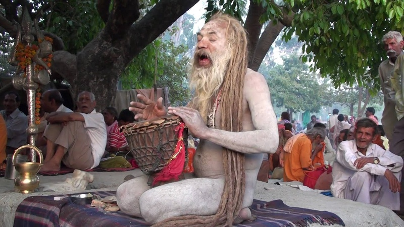 DHUNICAST Satsang Interview with Naga Baba Sri Shiv Raj Giri Ji at 2010 Hardwar Kumbh Mela Part 2