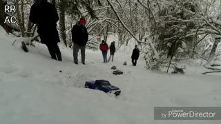Трофи модели по снегу (rc scale crawling snow fun)