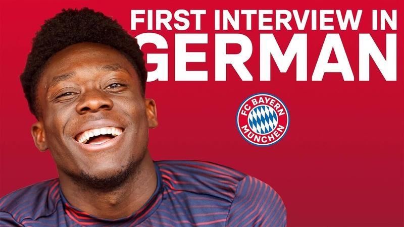 Alphonso Davies' First Interview in German