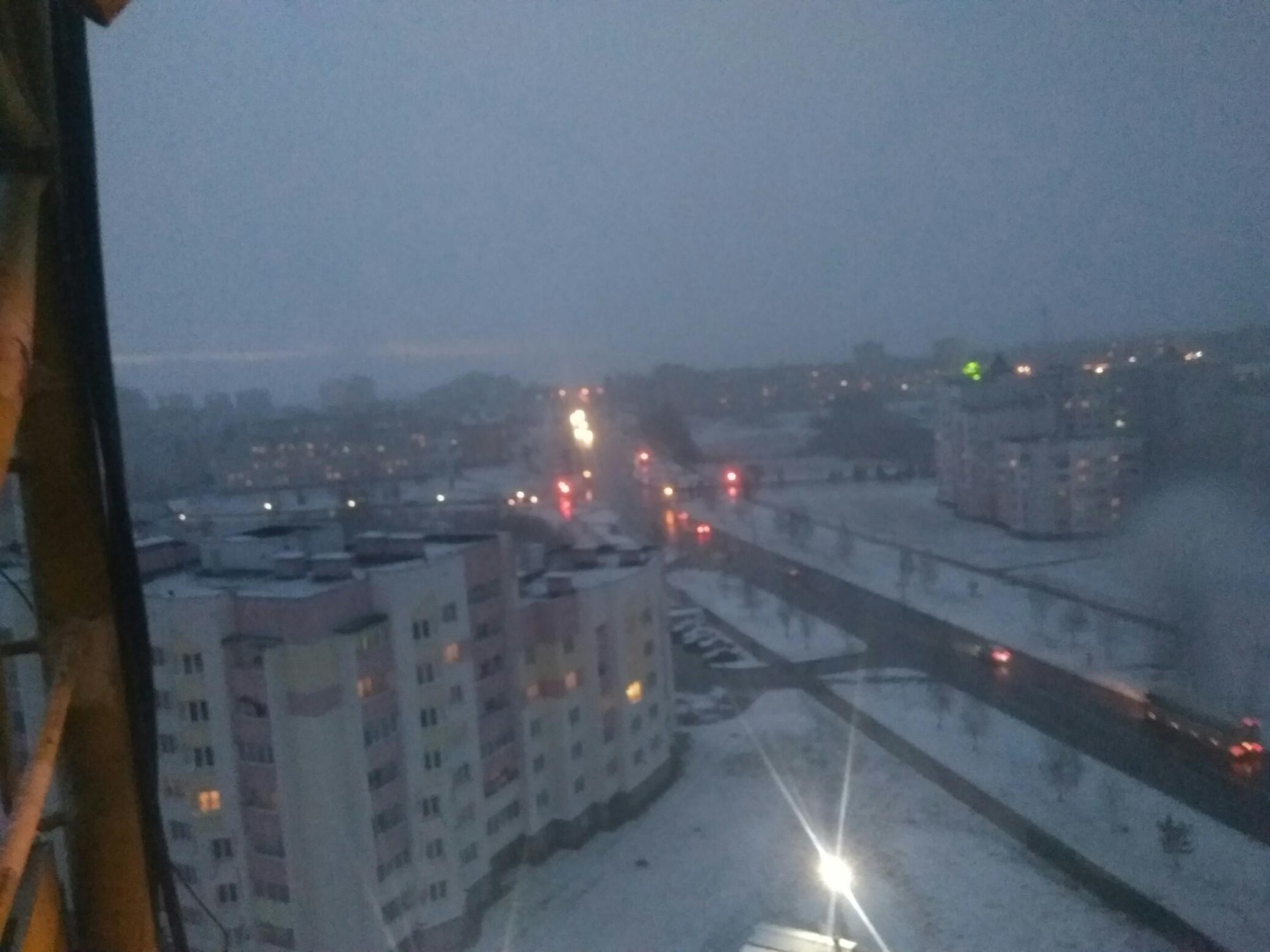 Пришла зима в конце марта