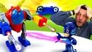 PJ Masks contra el robot Malvado. Vídeo de juguetes para niños pequeños