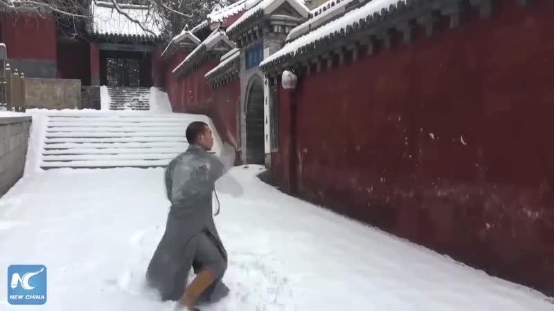 БИЕО. Шаолиньские бойцы. Тренировка зимой. ,btj. ifjkbymcrbt ,jqws. nhtybhjdrf pbvjq.