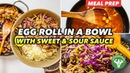 Meal Prep - Egg Roll in a Bowl with Sweet Sour Sauce