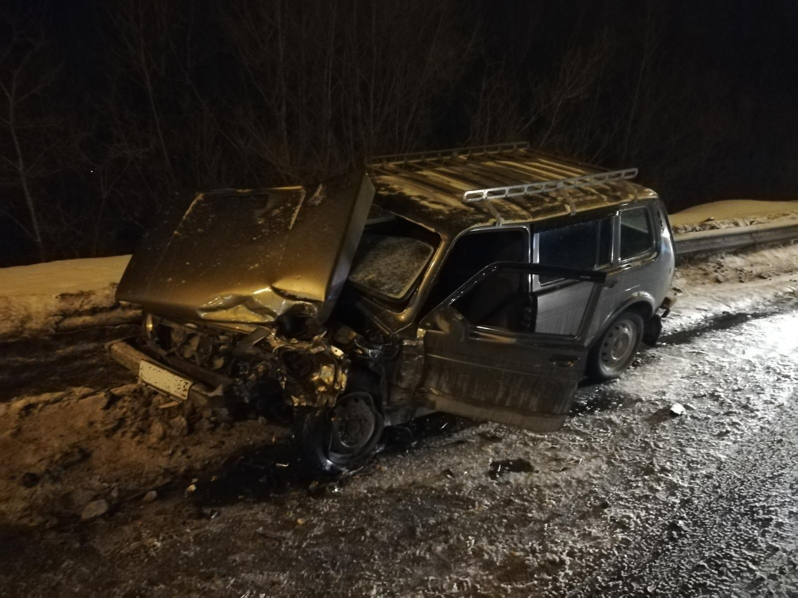 Лобовое ДТП на Южном шоссе в Самаре автоледи разогналась и вылетела на встречку