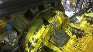 NIVA URBAN LADA 4x4 шумка, оснащение салона авто дополнительными шумоизоляционными материалами