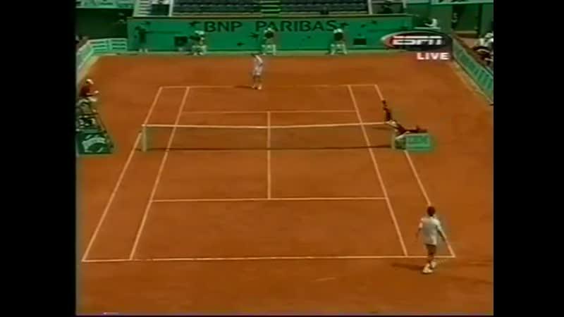 Roland Garros 2001 QF Gustavo Kuerten Bra Yevgeny Kafelnikov Rus