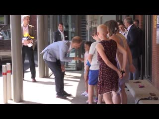 Prince harry retraces diana's footsteps as he makes kids smile at hospital