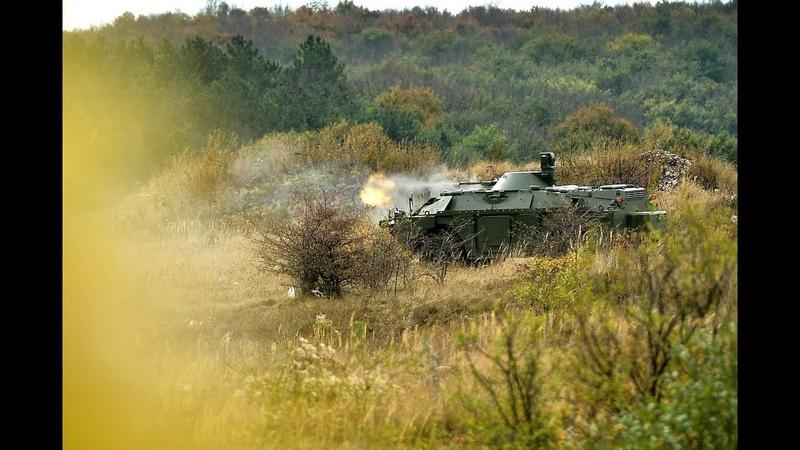 Оbukа jedinica Vojske Srbije iz oklopno izviđačkih vozila BRDM 2MS
