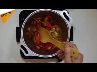 Секреты кыргызской кухни- за час одновременно готовим первое и второе