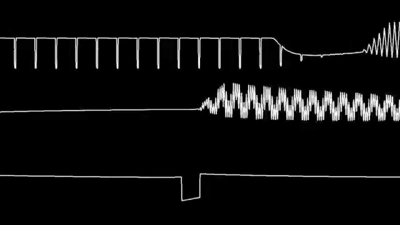 C64 Rob Hubbard's Master of Magic oscilloscope view
