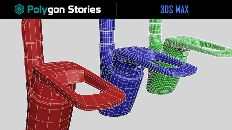 6 3ds Max для начинающих Сглаживание геометрии TurboSmooth Chamfer Crease Creaset OpenSubdiv