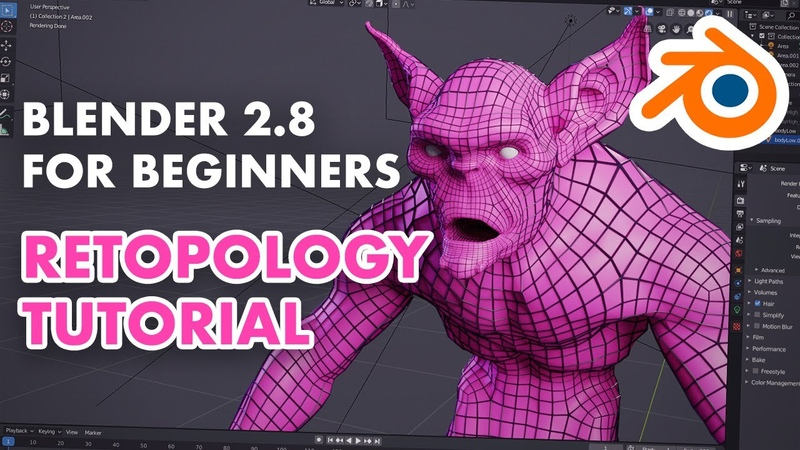 Retopology for Beginners in Blender 2.8 - Retopo the Correct Way