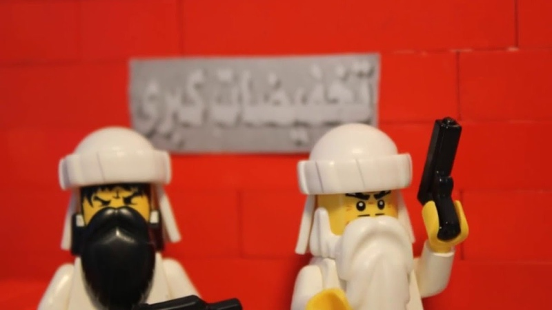 Bashar Al Assad supporters have been spotted in Lego City