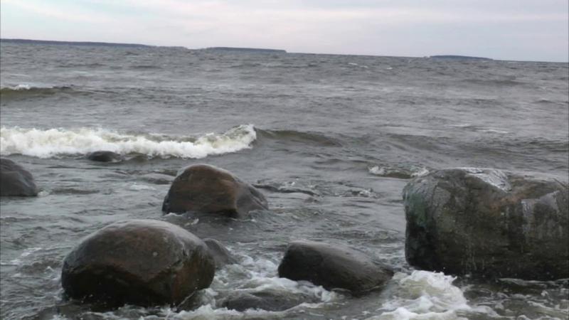 Осенний прибой, Онежское озеро.