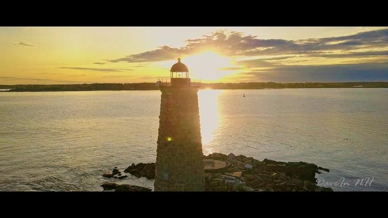 Vangelis Bon Voyage Whaleback Light New England Lighthouse Sunset Drone Flight