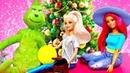 Барби и игрушки готовятся к Новому году. Гринч снова украл рождество! Видео для детей