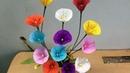 Làm hoa bằng giấy đơn giản mà đẹp ( HOW TO DO WITH PAPER FLOWER shrugged spinach)
